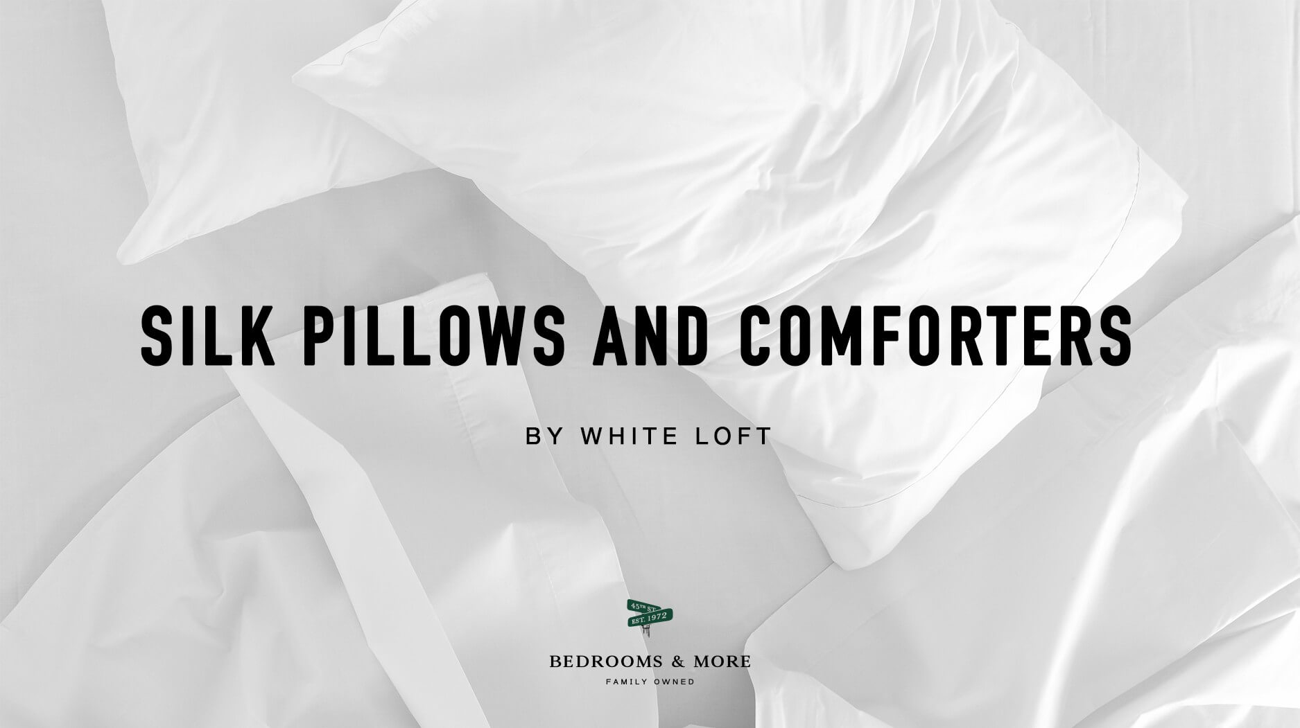 White Loft Pillows and Comforters