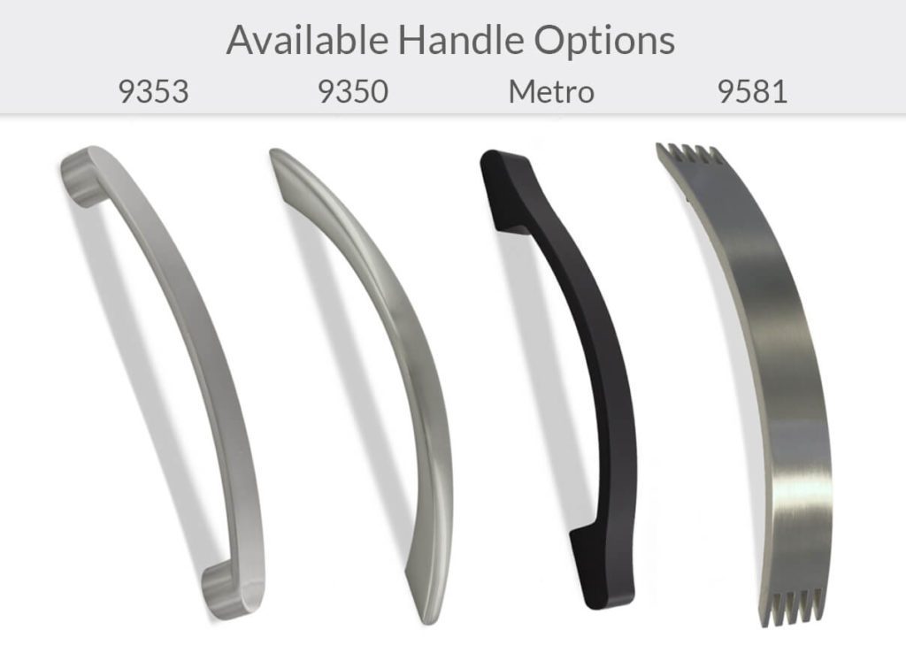 Available Cabinet Handle Options