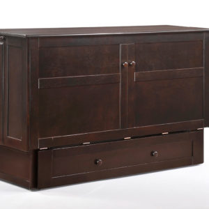 Clover Murphy Cabinet Bed in Chocolate Closed
