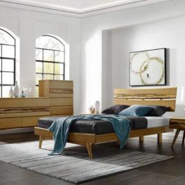 Azara Platform Bed with Caramelized Finish