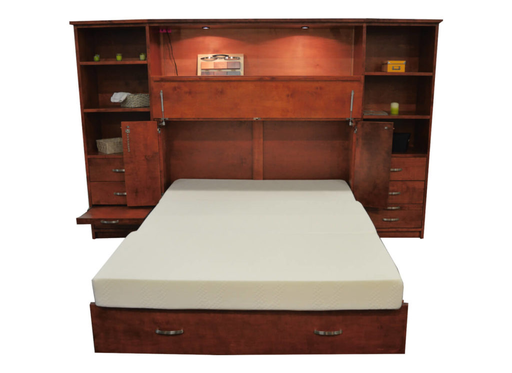 Cabinet Beds Wall Unit Opened