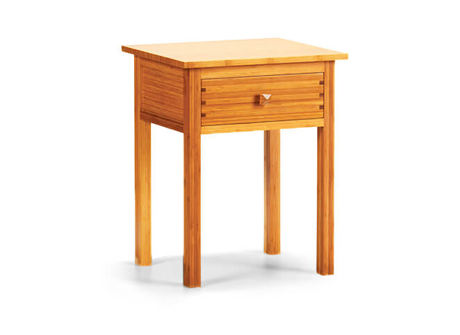 Hosta Nightstand in Caramelized Finish Angled View