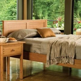 Hosta Platform Bed in Caramelized Finish Lifestyle
