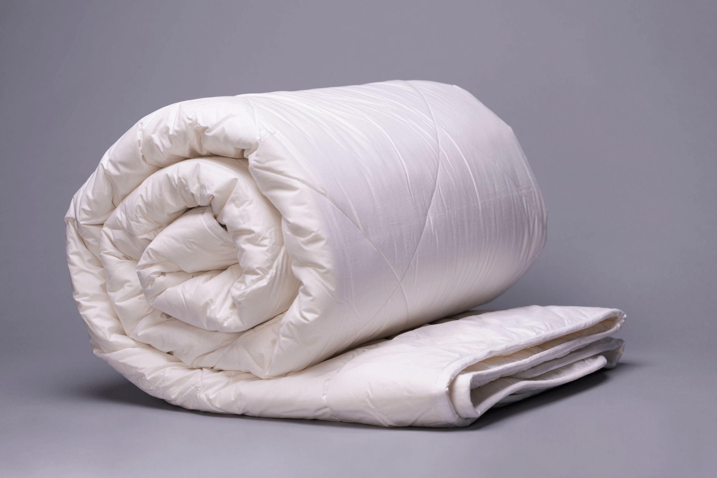 Washable Wool Comforter Rolled