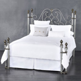 Aberdeen Queen Complete Bed in Aged Nickel Finish