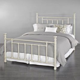 Blake Queen Complete Bed in Rustic Ivory Finish