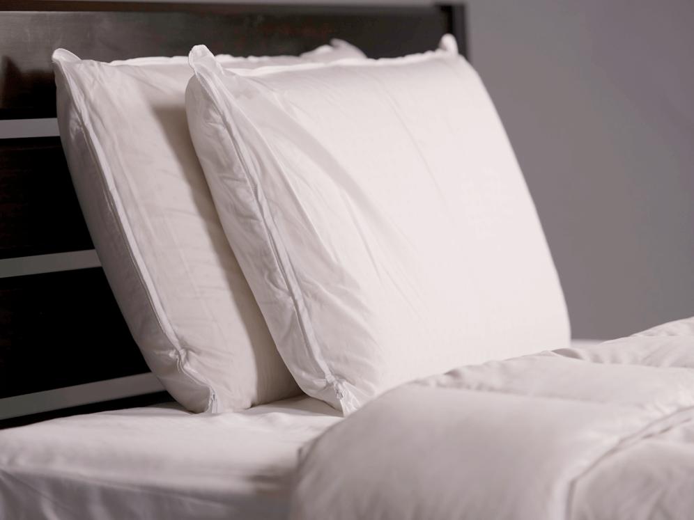 Solid Latex Pillow on Mattress