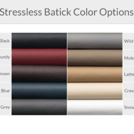Stressless Batick Leather Color Options