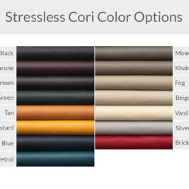 Stressless Cori Leather Color Options