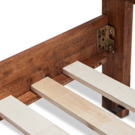 Acacia Phillipe Bed Frame Side Rails in Java Rustic