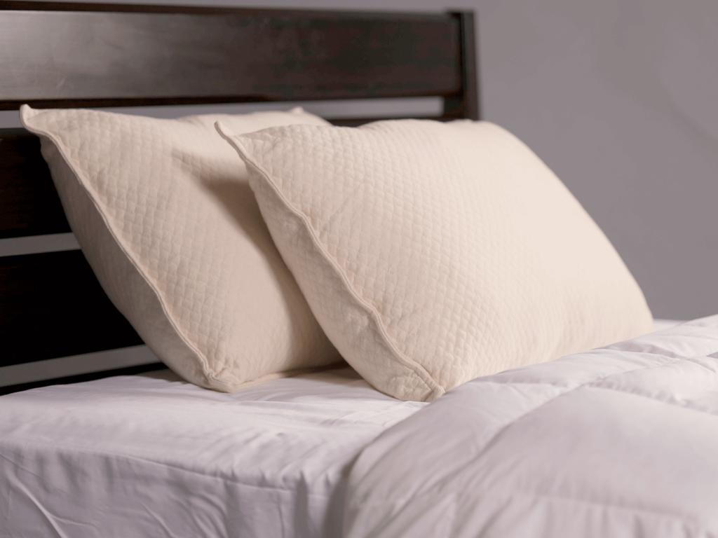 melange silhouette pillow on mattress