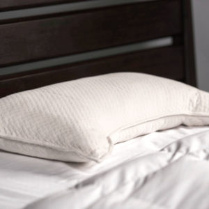 Melange Profile Side Sleeper Pillow on Mattress