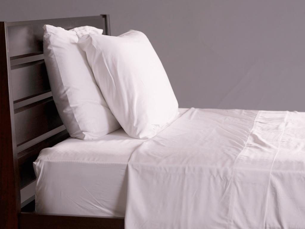 Snow Bamboo Bed Sheets