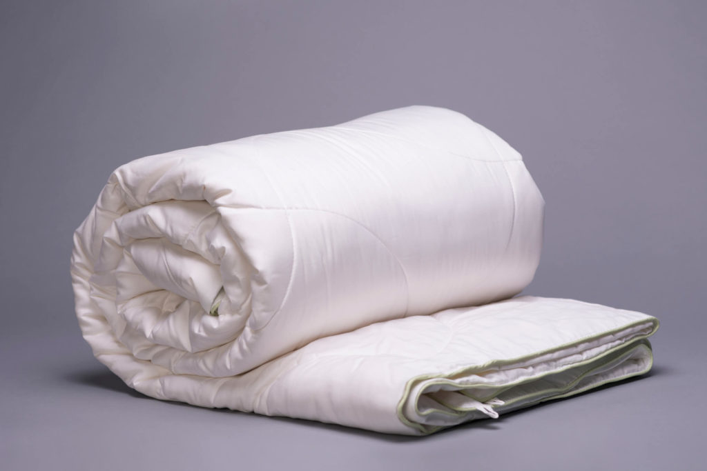 Bamboo Comforter Rolled