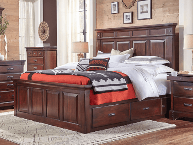 Kalispell Mantel Storage Bed