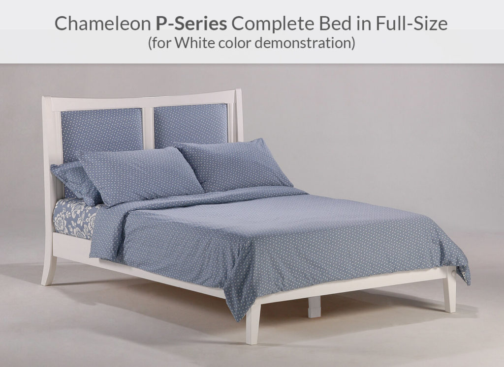 Chameleon Bed Full White P-Series