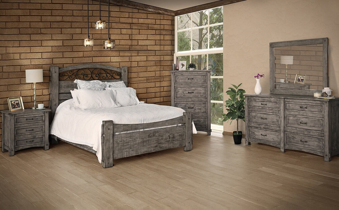 the antigua gray bed bedrooms more seattle. Black Bedroom Furniture Sets. Home Design Ideas