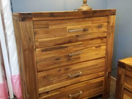 Acacia Phillipe Four-Drawer Chest Photo, Acacia Phillipe 4 Drawer Chest