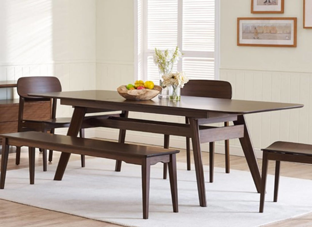 Currant Extension Dining Table in Black Walnut Lifestyle