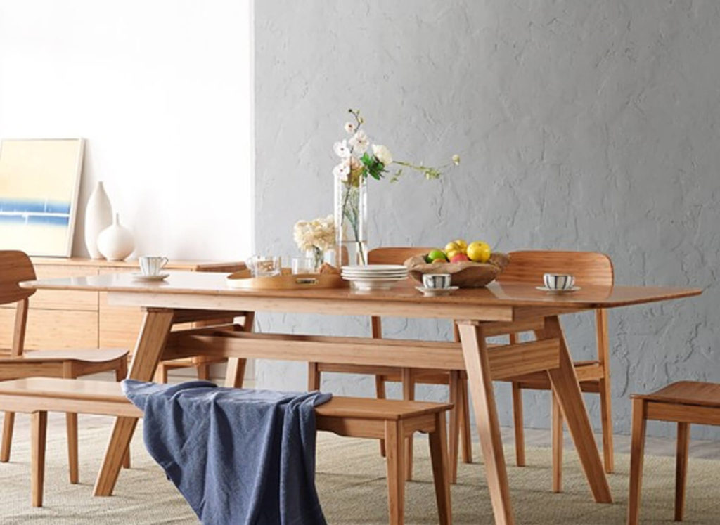 Currant Extension Dining Table in Caramelized Lifestyle