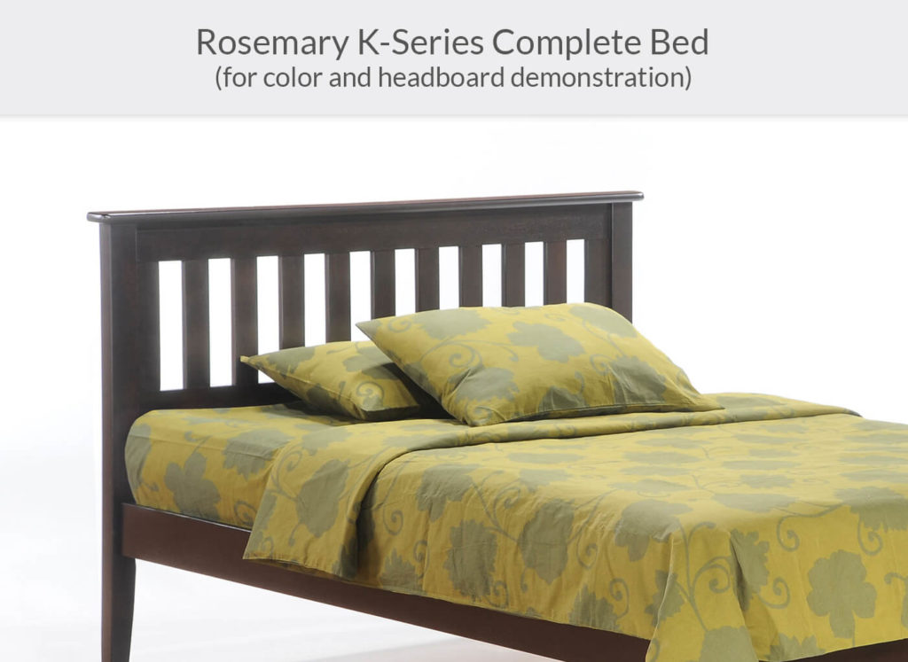 Rosemary P-Series Complete Bed in Dark Chocolate