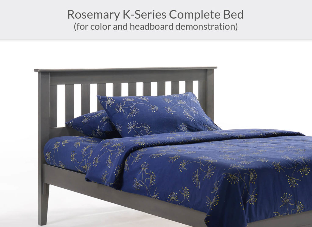 Rosemary P-Series Complete Bed in Stonewash