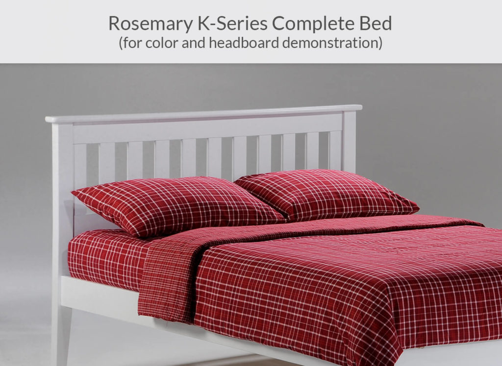 Rosemary P-Series Complete Bed in White