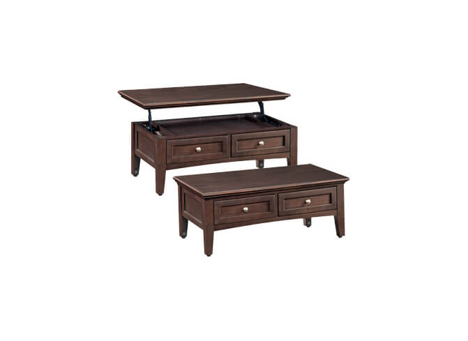 McKenzie Lift Top Coffee Table in Caffe
