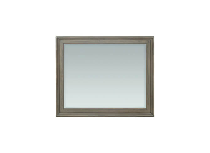 McKenzie Rectangular Mirror in Fieldstone