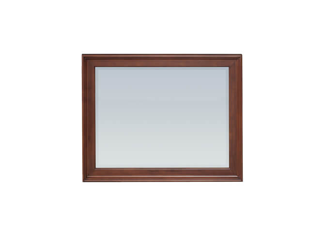 McKenzie Rectangular Mirror in Glazed Antique Cherry
