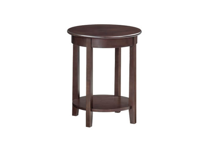 McKenzie Round Accent Table in Caffe