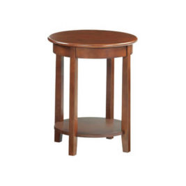 McKenzie Round Accent Table in Glazed Antique Cherry