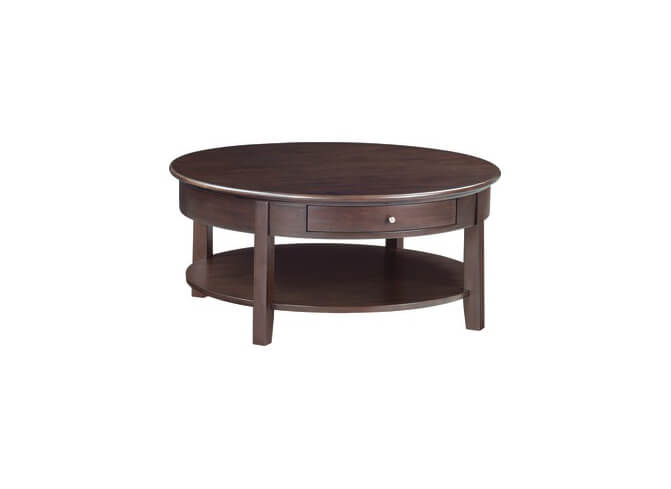 McKenzie Round Cocktail Table in Caffe