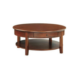 McKenzie Round Cocktail Table in Glazed Antique Cherry