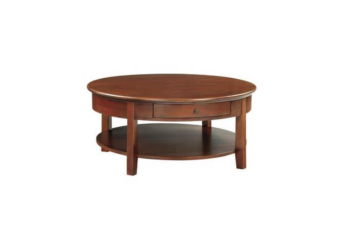 McKenzie Round Cocktail Table in Glazed Antique Cherry