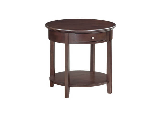 McKenzie Round End Table in Caffe