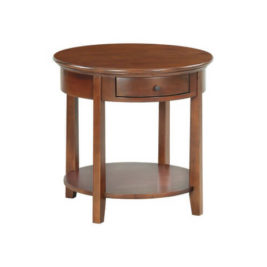 McKenzie Round End Table in Glazed Antique Cherry