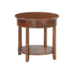 McKenzie Round End Table in Glazed Antique Cherry