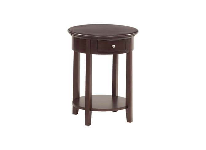 McKenzie Round Side Table in Caffe