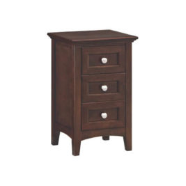 McKenzie Small 3-Drawer Nightstand in Caffe