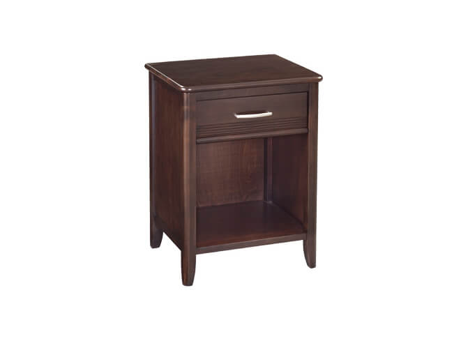 Pacific 1-Drawer Nightstand in Caffe