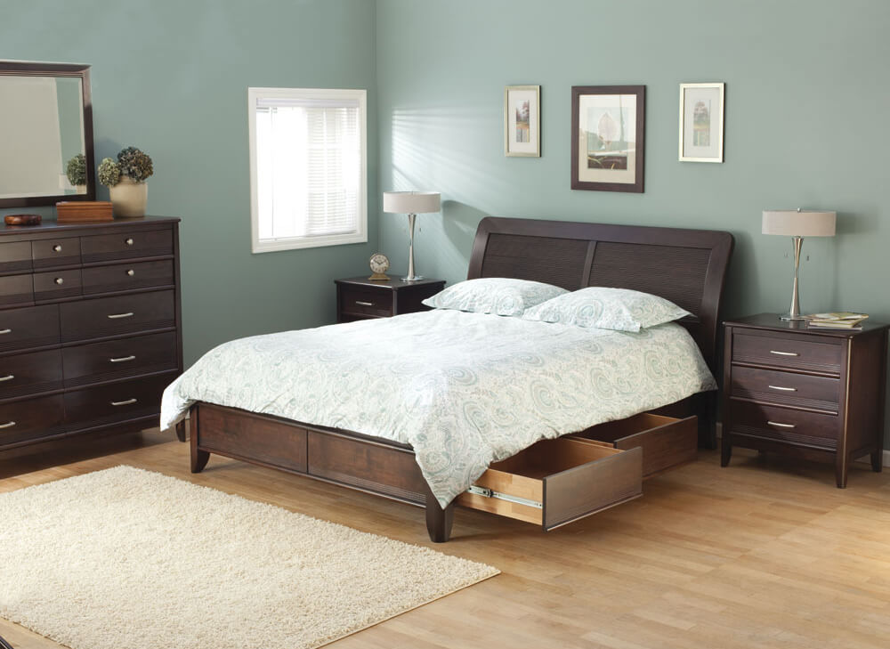 Pacific Storage Bed in Caffe Lifestyle