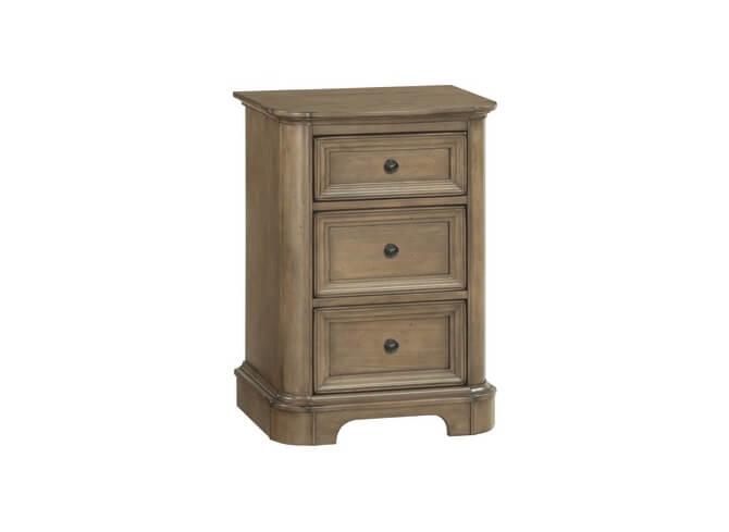 Stonewood Small 3‑Drawer Nightstand