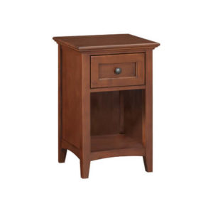McKenzie 1-Drawer Nightstand in Glazed Antique Cherry