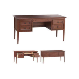 McKenzie 4-Drawer Desk in Glazed Antique Cherry
