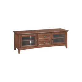"McKenzie 64"" 2-Drawer Media Console in Glazed Antique Cherry"