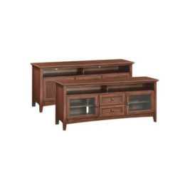 "McKenzie 64"" Sound Bar Media Console in Glazed Antique Cherry"