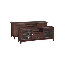 "McKenzie 74"" 2-Drawer Center Channel Console in Caffe"