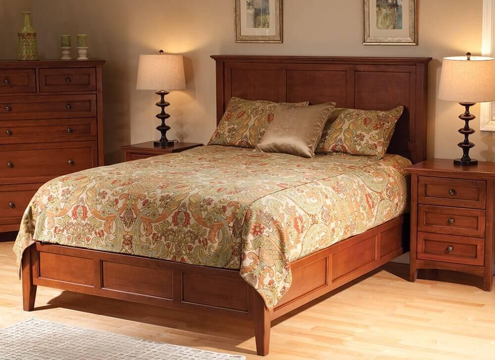 McKenzie Mantel Bed Glazed Antique in Cherry Lifestyle