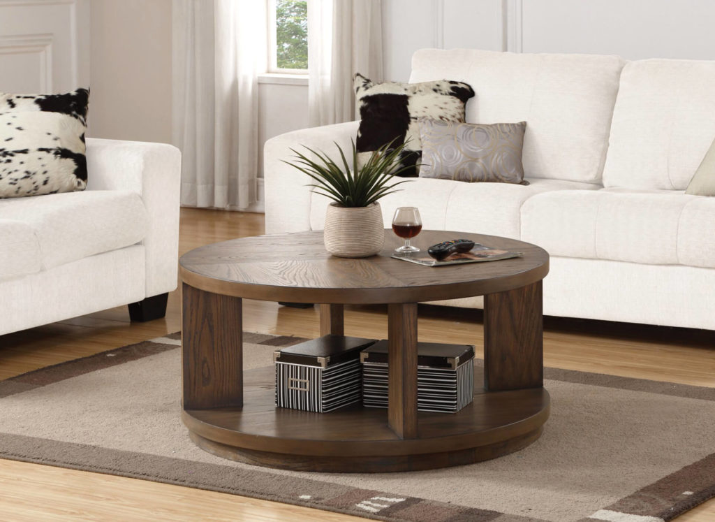 Maximus Round Cocktail Table in Lifestyle